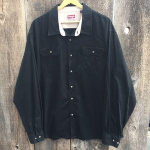 Wrangler Casual Long Sleeve Button Up Shirt, 2-3XL